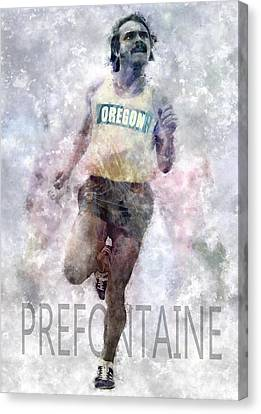 Running Legend Steve Prefontaine Canvas Print by Daniel Hagerman