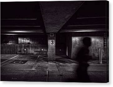 Running Level Three Night People Canvas Print