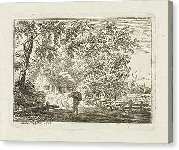 Country Roads Canvas Print - Running Man, Andries Cornelis Krijgeer by Andries Cornelis Krijgeer