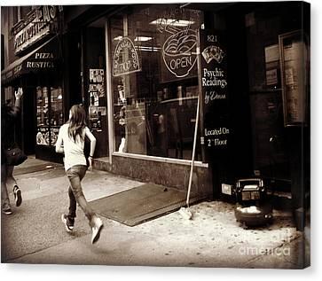 Running Canvas Print by Miriam Danar