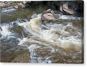Canvas Print featuring the photograph Running River by Marek Poplawski