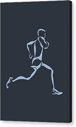 Running Runner12 Canvas Print by Joe Hamilton