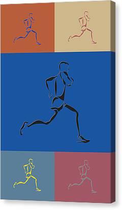 Running Runner2 Canvas Print by Joe Hamilton