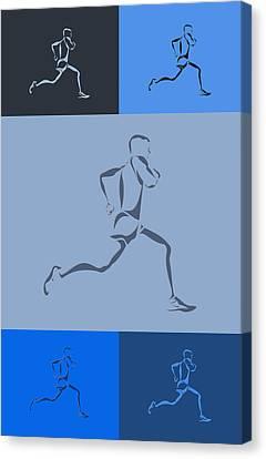 Running Runner5 Canvas Print by Joe Hamilton