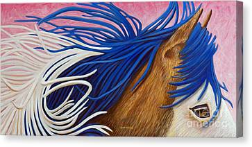 Running Thunder Canvas Print by Brian  Commerford
