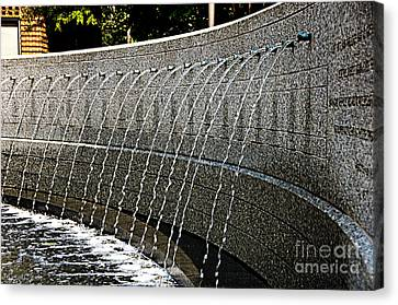 Running Water Canvas Print by Nancy E Stein