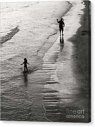 Bikini Canvas Print - Running Wild Running Free by Edward Fielding