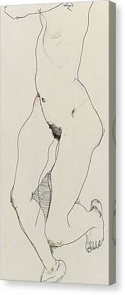 Running Woman Canvas Print by Egon Schiele