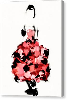 Dressing Room Canvas Print - Runway by Denise Vanderhoek