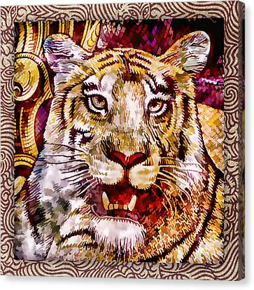 Rupee Tiger Canvas Print by Carol Leigh