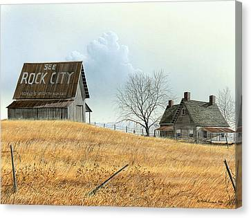 Canvas Print featuring the painting Rural America by Mike Brown
