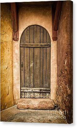 Shed Canvas Print - Rural Arch Door by Carlos Caetano
