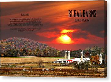 Canvas Print featuring the photograph Rural Barns  My Book Cover by Randall Branham