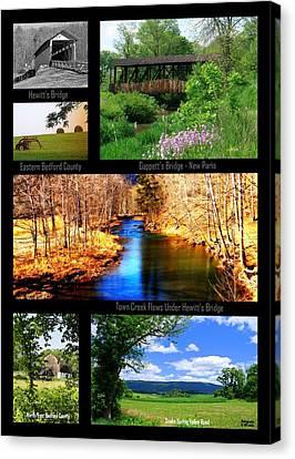 Rural Bedford County Canvas Print by Mary Beth Landis