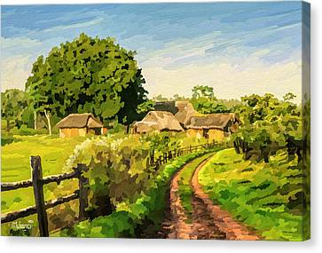 Rural Home Canvas Print by Anthony Mwangi