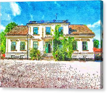 Rural Hotel In Sweden 2 Canvas Print by Yury Malkov