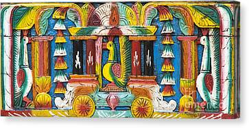 Rural Indian Wood Carving Canvas Print by Tim Gainey