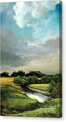 Rural Landscape Canvas Print by Mikhail Savchenko