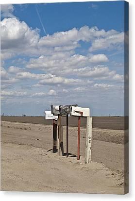 Rural Mailboxes Canvas Print by David Litschel