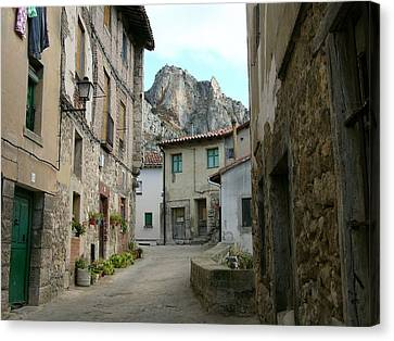 Rural Medieval Town Canvas Print