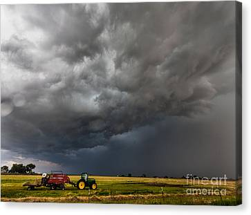 Turbulent Skies Canvas Print - Rural Storm by Steven Reed