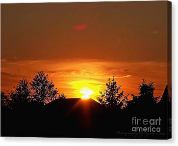 Canvas Print featuring the photograph Rural Sunset by Gena Weiser