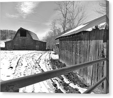 Rural Winter Canvas Print