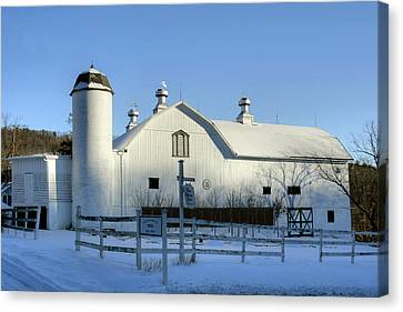 Canvas Print featuring the photograph Rural Winter Whites And Blues by Gene Walls