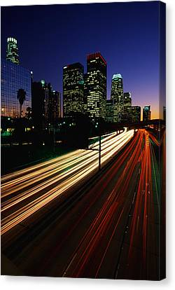 Rush Hour Harbor Freeway Los Angeles Ca Canvas Print