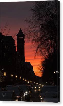 Rush Hour Sunset Canvas Print