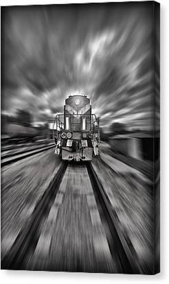 Rail Siding Canvas Print - Rush by Jason Green