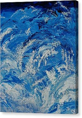 Canvas Print featuring the painting Rush by Katherine Young-Beck