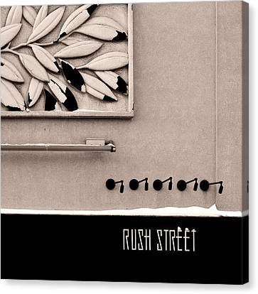 Canvas Print featuring the photograph Rush Street by James Howe