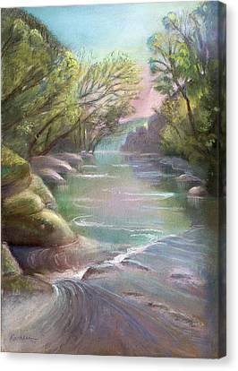Rushing Creek Gatlinburg Tennessee Canvas Print by Kathleen Bonadonna