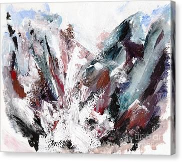 Rushing Down The Cliff Canvas Print by Lidija Ivanek - SiLa