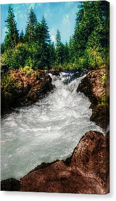 Rushing Rogue Gorge Canvas Print by Melanie Lankford Photography