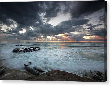 Rushing Seas Canvas Print by Peter Tellone