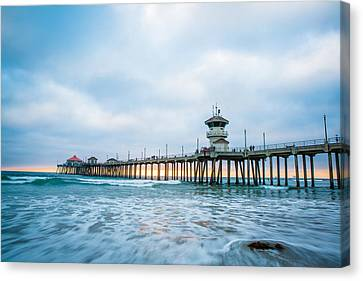 Rushing Sunset Canvas Print by Andrew Slater