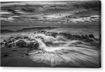 Rushing Tide Canvas Print by Mike Lang