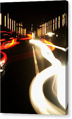 Rushing Traffic Canvas Print by Rajiv Chopra