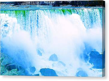 Canvas Print featuring the photograph Rushing Waters by Al Fritz