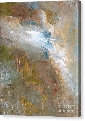 Abstract Water Fall Canvas Print - Rushing Waters by Frances Marino