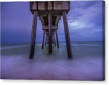 Russell Fields Pier Canvas Print by David Morefield
