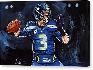 Russell Wilson Canvas Print by Dave Olsen