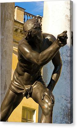 Russia, Pushkin Bronze Statue Canvas Print