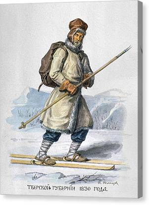 Russia Skier, 1830 Canvas Print by Granger