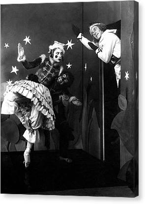 Russian Ballet Dancers Wearing Elaborate Costumes Canvas Print by Anton Bruehl & Fernand Bourges