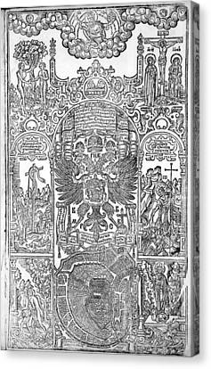 Russian Bible, 1663 Canvas Print