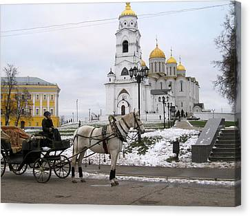 Russian Carriage Canvas Print by Michael Fitzpatrick