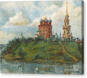 Russian Cathedral Canvas Print by Margaryta Yermolayeva